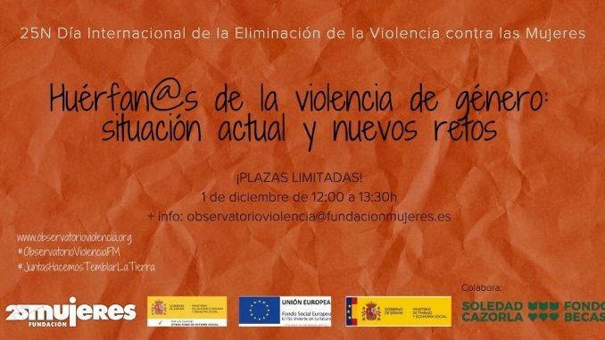 Webinar: Huérfan@s de la violencia de género: situación actual y nuevos retos