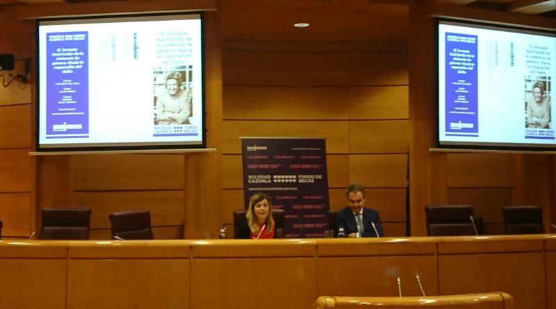 José Luis Rodríguez Zapatero clausuró en el Senado, la II Jornada Huérfan@s víctimas de la violencia de género, que este año se ha centrado en la reparación del daño.