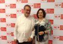 Teresa Peramato y Joaquín Tagar, promotor del Fondo de Becas Fiscal soledad Cazorla Prieto en el Congreso de la Unión Progresista de Fiscales de 2017