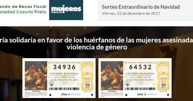 Lotería de Navidad a favor del Fondo de Becas Fiscal Soledad Cazorla Prieto