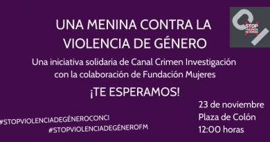 Un Menina violeta contra la violencia de género